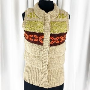 Free People Nordic Fair Isle puffer Sweater Vest